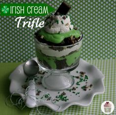 Irish Cream Trifle holiday, irish cream, irish desserts, trifles, food, st patti, st patrick, cream trifl, trifle desserts