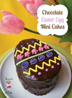 Chocolate easter egg mini cakes