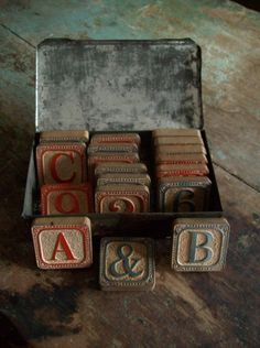 early country antiques - love anything with the alphabet.