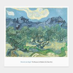 Poster from MOMA - Vincent van Gogh: The Olive Trees