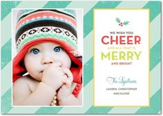 Holiday Card - Summery Stripes