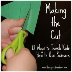 Great ideas on how to help kids progress from beginning snippers to expert shape-cutters.