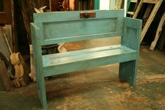 old door bench 2