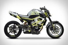 Yamaha Moto Cage-Six Concept. Not usually a fan of this type of bike, but I really like this one. Probably because it's a concept.