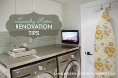 Rambling Renovators: Laundry Room Renovation Tips
