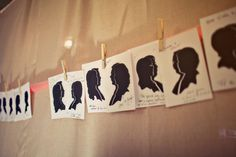 Hire a silhouette artist to create illustrations of guests. Let them take it home as a fun favor!