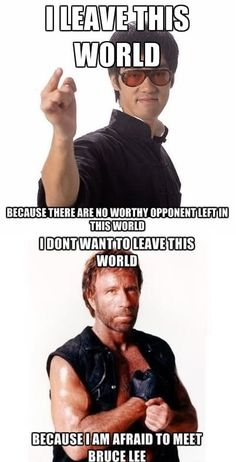 Bruce Lee vs. Chuck Norris - funny pictures - funny photos - funny images - funny pics - funny quotes - #lol #humor #funny