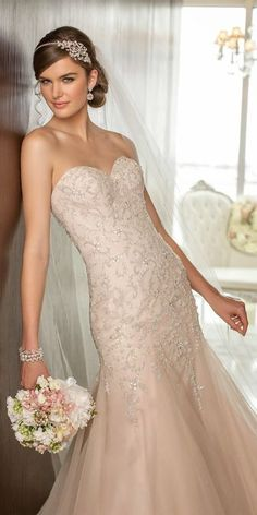 Beautiful blush gown, wedding dressses, bridal dresses, color, the dress