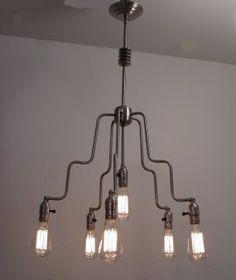 vintage lighting, light edison, bulb chandeli, edison bulb