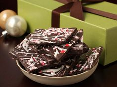 i crave this even when it's not christmastime! dark chocolate peppermint bark.