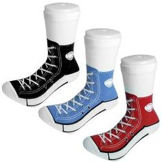 Silly Socks 5-11 Adult Sneaker Socks (Red, Blue or Black) | click here to buy!!