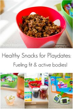 Hosting an active backyard playdate? Keep those tiny bodies fueled and fit! Love these healthy ideas for snacks to serve to your friends. #fitmadefun