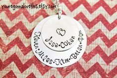 Family Necklace Personalized with your Names by youregonnalovethis