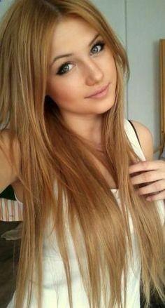 beautiful dark strawberry blonde