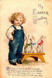 Vintage Easter postcards for artwork.