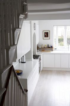 White Corian counter, Kitchen in Victorian house in Stoke Newington, London   Remodelista