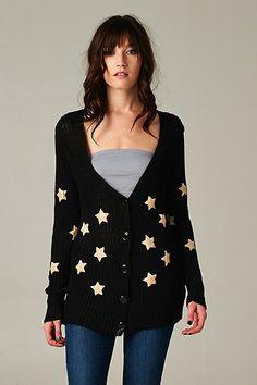 Cute Wishing On A Star Knit Cardigan