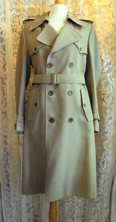 Vintage 1970s Trench Coat Dr. Who, $15, on Etsy at RetroRosiesVintage