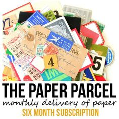 The Paper Parcel: Six Month Subscription (January - June 2014) - I havent placed an order but looks promising.