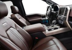 """The interior of the new 2015 F-150 is """"Ford Tough"""" tested by the Big Guns."""