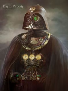 Darth Vapour by cylonka - this is a digital painting, but the helmet at least actually exists IRL. Follow the link for photos.