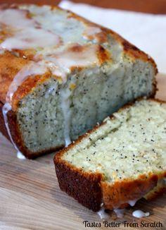 Lemon Poppy Seed Bread | Tastes Better From Scratch lemons, sweet, poppi seed, food, breads, poppyse bread, recip, lemon poppi, lemon poppyseed bread
