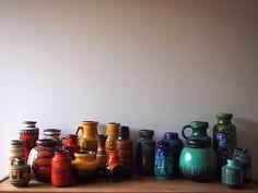 west german pottery via ouchflower.blogspot.com.au