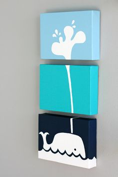 Whale painting series by Senn & Sons