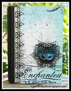 Altered Book using @Spellbinders new Venetian Accents and Venetian Motifs, Tattered Angels and Bo Bunny