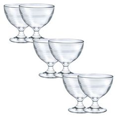 Gigogne Ice Cream Cup, Clear, 8.75-ounce, Set of 6