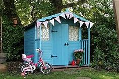Turquoise shed