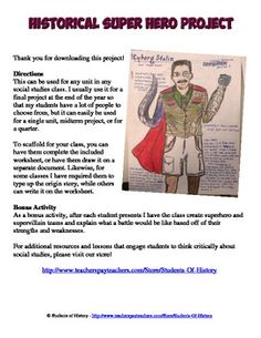 Great final project idea for history classes - make a Superhero from someone they learned about, like Cyborg Stalin!