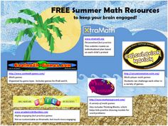 Flyer to send home to parents with FREE math websites