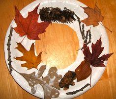 Thursday, October 17 & Monday, October 21, 2013. Leaf wreaths!
