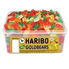 gold bears:Tub Of 600 Pieces