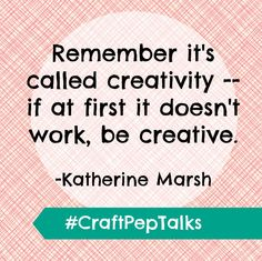 Love this #CraftPepTalk from Jo-Ann Facebook fan, Katherine Marsh! Thanks for all of your Craft Pep Talks on Friday's post: http://www.facebook.com/photo.php?fbid=10151247842038295=a.495655998294.261633.7884763294=1