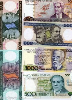 RARE 13 UNCIRCULATED BRAZIL WORLD BANKNOTES & MOUNTS DISCOVERY COLLECTION SET