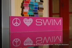 Wood Rack  - Swimming Medal & Ribbon Hanger Customization/Personalization Available