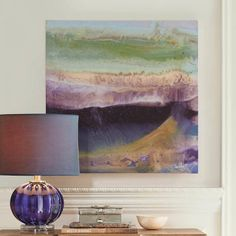 Purple Majesty Artwork... ties in beautifully with the other artwork selections in the room (and obviously with the Lydia lamp). | Grandin Road Color Crush on Purple Thistle
