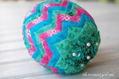 Fabric covered Easter egg--pattern available from The Ornament Girl