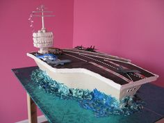 air craft carrier cake, fabul cakescupcak, cake idea, aircraft carrier, cake sculpt