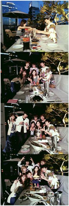 Super Junior's Eunhyuk at Seohyun (of SNSD)'s birthday party.