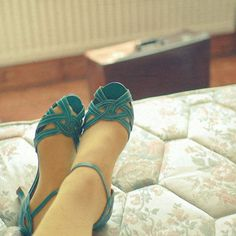 teal shoes