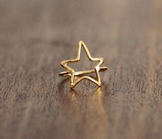 Gold & Silver Star Rings