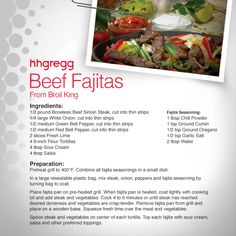 Broil King has provided a tasty beef #fajitas recipe – along with some expert tips from the Broil King grill masters. Happy grilling! #FoodieFriday