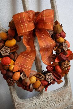Beautiful wreath made from old potpourri...or new - would smell wonderful!