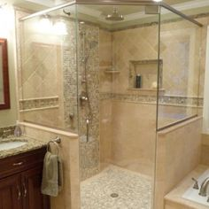 tile design, shower design, natural stones, bathroom designs, master bathrooms, master baths, bathroom showers, tile showers, bath design