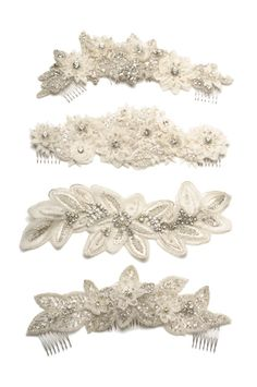 311  BIANCA Lux Headpiece   bridal comb by UntamedPetals on Etsy, $428.00