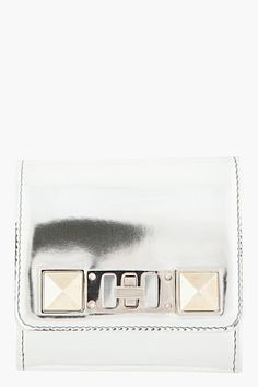 PROENZA SCHOULER Silver leather PS11 twist-clasp Wallet