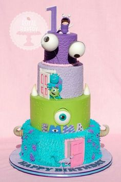 Cake Wrecks - Home - Sunday Sweets: Here There Be MONSTERS ~ Monster's Inc. Cake